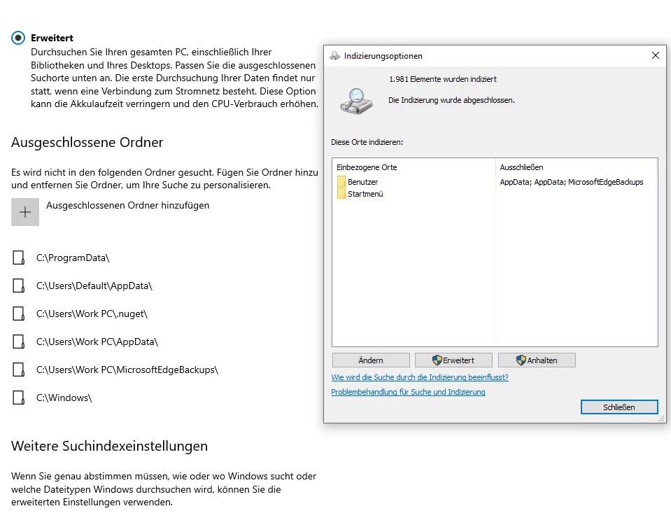 Windows 10 die neue Suche 0