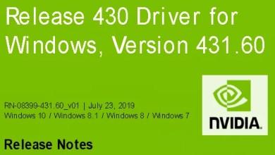 Photo of Nvidia-GeForce-Treiber Version 431.60 für Windows erschienen