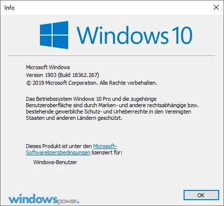 windows version anzeigen