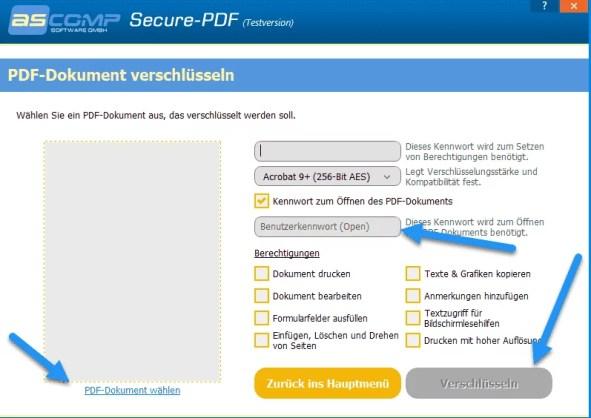 pdf dokument verschluesseln