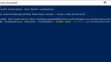 Photo of Liste alle installierten Programme erstellen und als .TXT Datei speichern