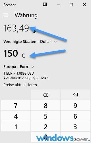 waehrungen us dollar euro wechselkurs aktuell