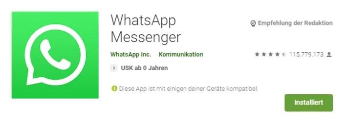 whatsapp installieren android smartphone
