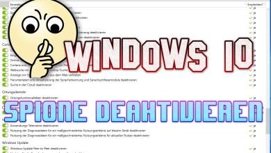 Photo of Windows 10 Spione deaktivieren – O&O ShutUp10