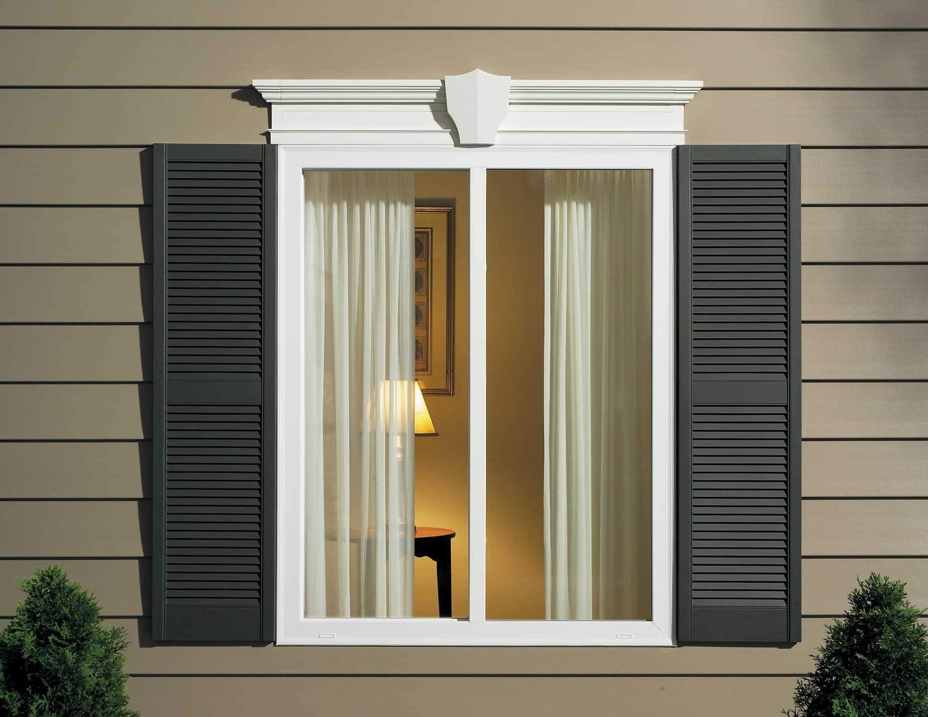Exterior Louvered Shutters Window World