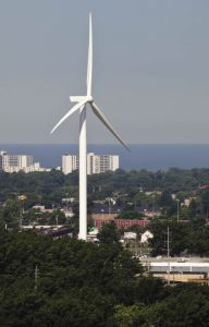 Lincoln Electric installs Kenersys wind turbine one of NA s largest lincoln electric kennersys wind turbine city view
