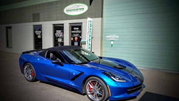 Corvette at Crackmasters Edmonton West end