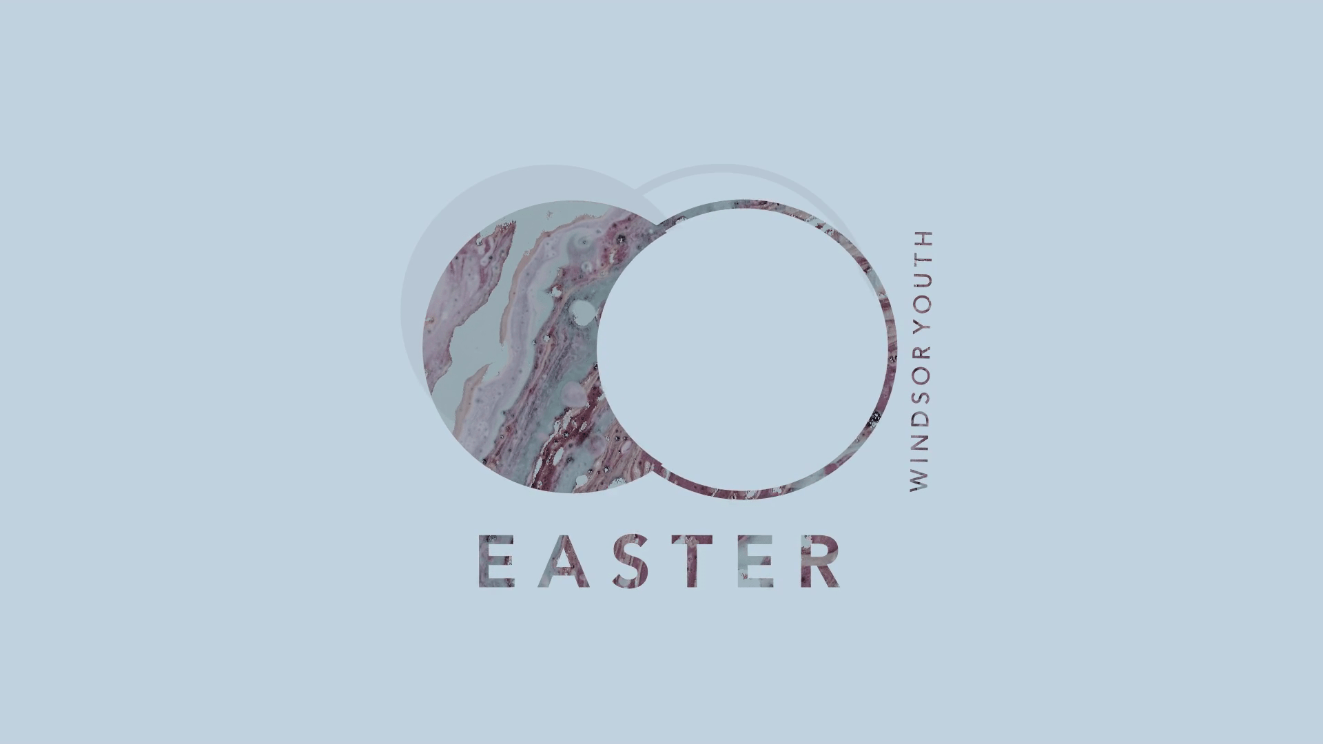 Windsor Youth Easter online logo made up of two circles representing the open tomb