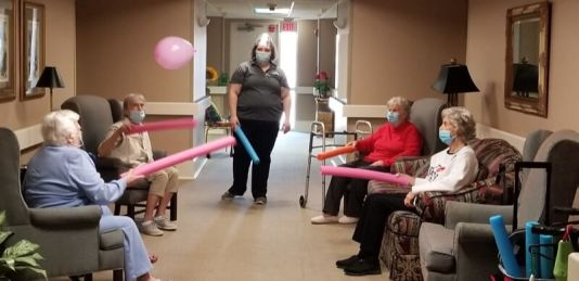 thumbnail 20210302 150505 1 - Residents having a great time exercising with noodles and balloons!!!
