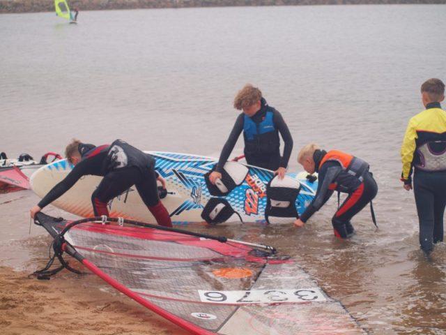 Junior windsurfing