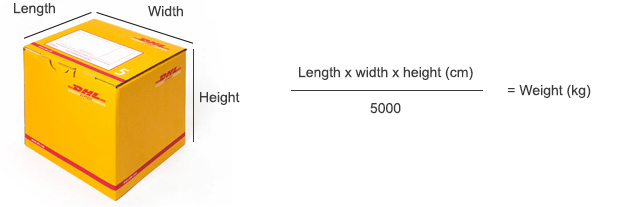 How to calculate volumetric weight
