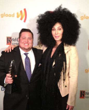 4914 - Cher presents award to Chaz at GLAAD Awards - Gay ...