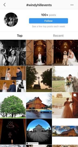 Instagram wedding hashtag #windyhillevents 1