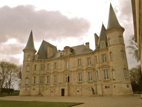 Pichon Baron the chateau under clouds