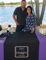 Juan José and Miriam Puentes from Honrama Cellars.
