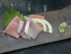 Sashimi: O Toro (Fatty Bluefin Tuna), Umimasu (Ocean Trout) and Hamashi (Yellowtail). (Edgar Solís)