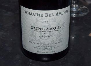 Domaine Bel Avenir, Laura, Saint-Amor 2011. (Edgar Solis)