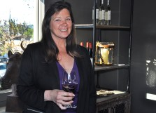 Silver Trident Winemaker Kari Auringer at the recent opening the Silver Trident new concept Tasting Home in Yountville, Napa Valley. (Edgar Solis)