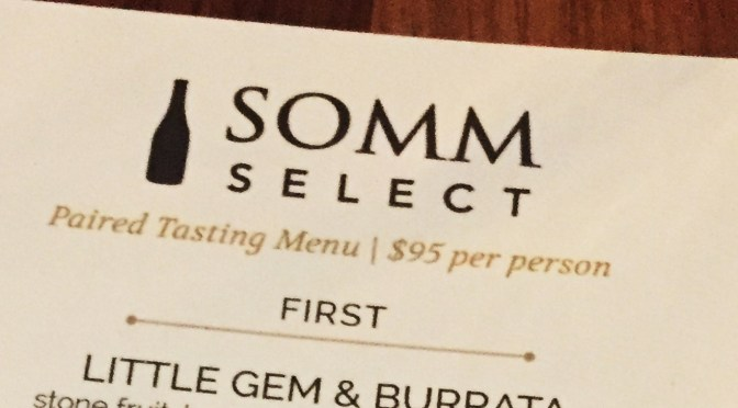 Memorable wine pairing dinner with SommSelect