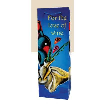 For The Love Of Wine – Paper Wine Bottle Gift Bag