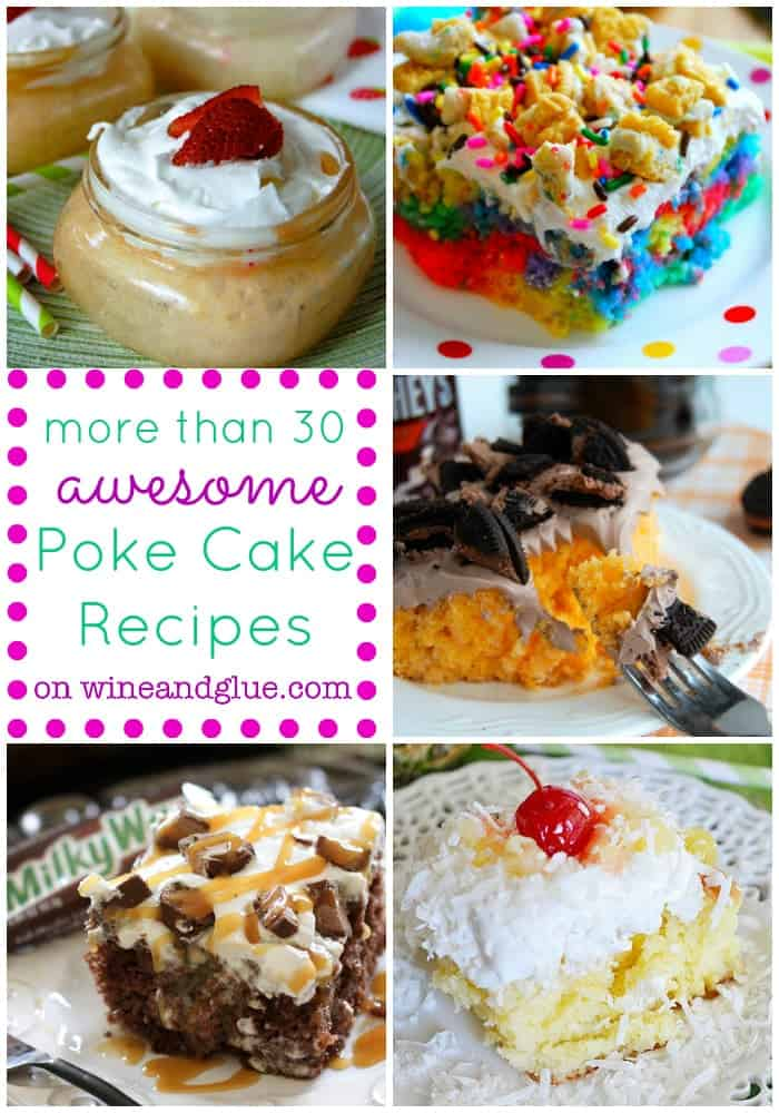 Candy Corn Poke Cake Wine Amp Glue