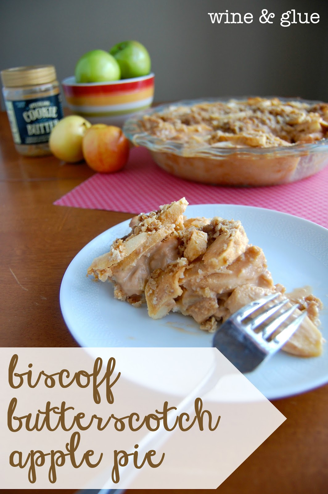 Biscoff Butterscotch Apple Pie With Sugar Cookie Crust