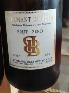 Domaine Berthet-Bondet. Crémant du Jura Brut Zéro NV.