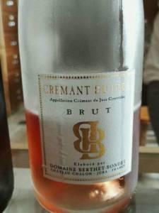 Domaine Berthet-Bondet. Crémant du Jura Rosé Brut NV.