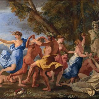 Nicolas Poussin - A Bacchanalian Revel before a statue of Pan, 1632/33.