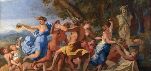 Nicolas Poussin - A Bacchanalian Revel before a statue of Pan, 1632/33.