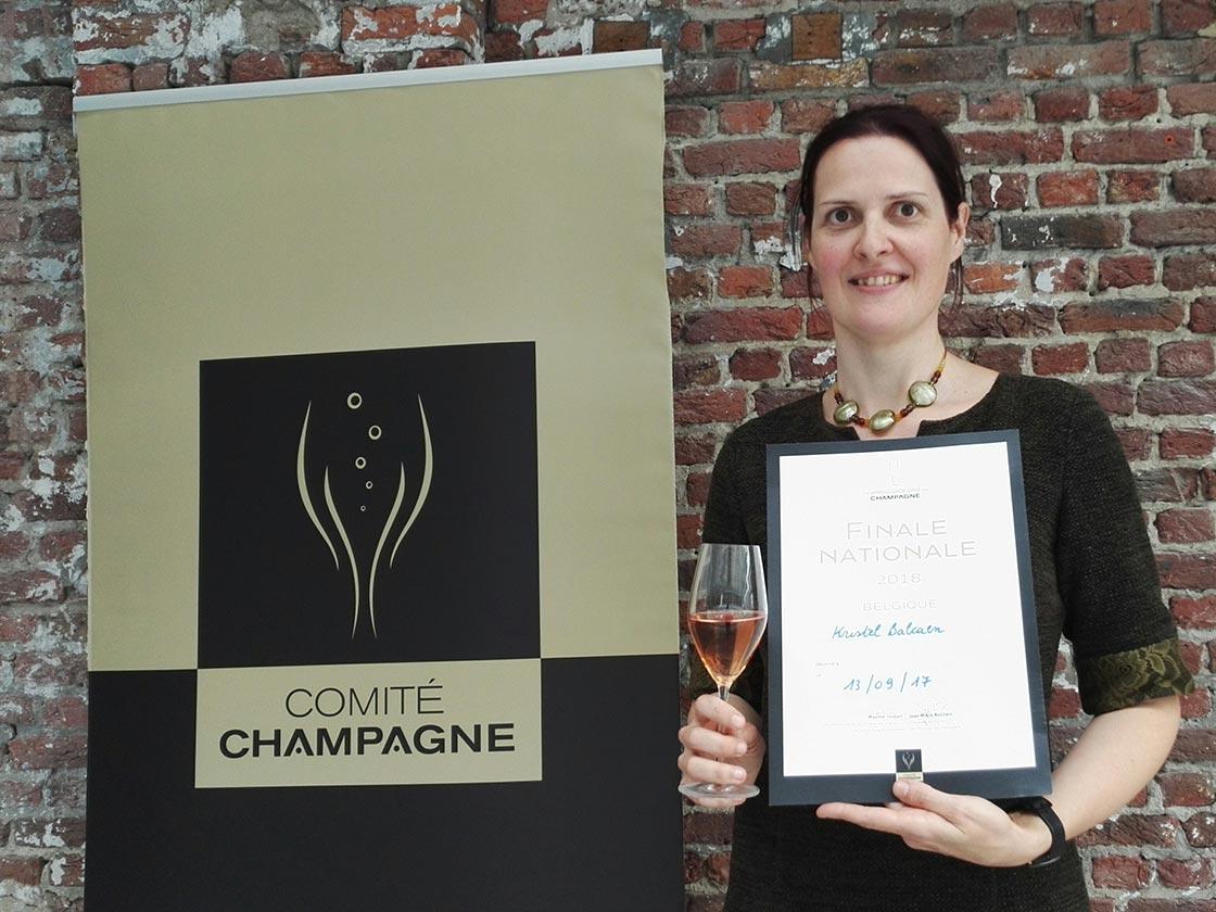 Kristel Balcaen - Champagne Ambassador, Belgium 2018.