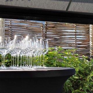 Wine Glasses - Restaurant L'Envie Zwevegem Belgium.