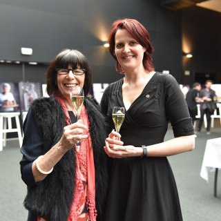 2 Wine Ladies of the Year united - Simonne Wellekens (2019) and Kristel Balcaen (2018)