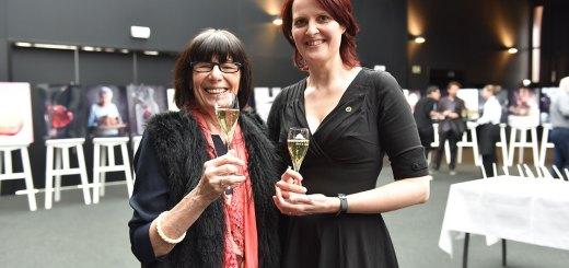 2 Wine Ladies of the Year united - Simonne Wellekens (2019) and Kristel Balcaen (2018)