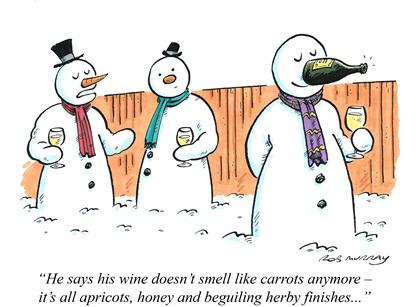 Nosing wine cartoon