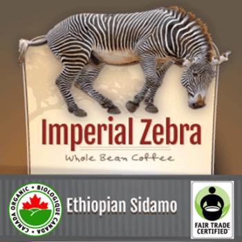 Fair Trade Ethiopian Sidamo Organic Imperial Zebra   12oz