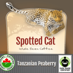 Fair Trade Tanzanian Peaberry Organic Spotted Cat | 12oz