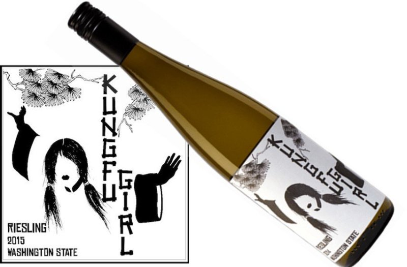 Charles Smith Kung Fu Girl Riesling 2015 | Tangy & Zingy | Pairs with Poultry, Thai, Chinese, Seafood | Drink 45-55°F | Drink now thru 2021 | Riesling | Columbia, Washington | 90WA | Juicy & Lively | Great for crowds and your Chinese dinner!