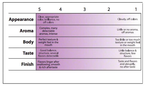 wine scorecard