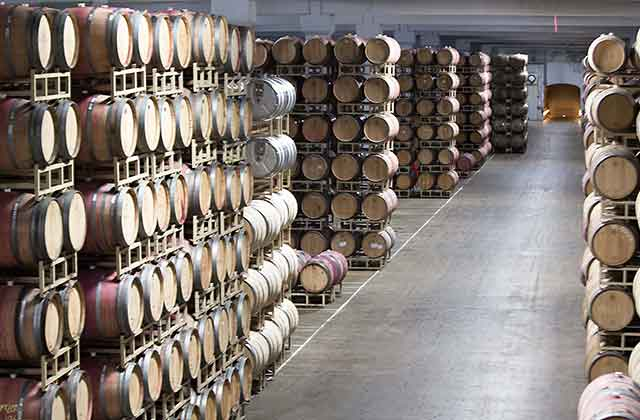 wine barrel room