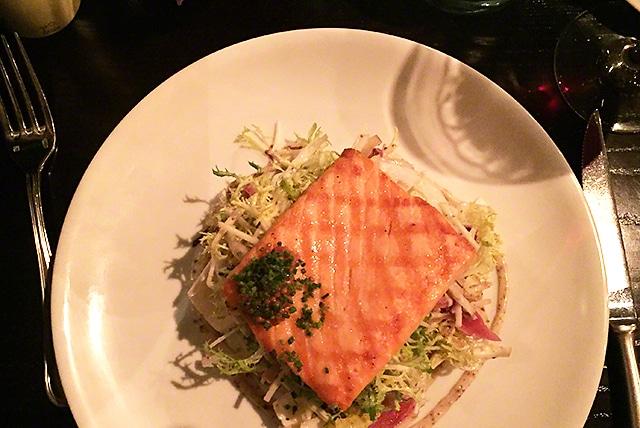 Evangeline grilled salmon