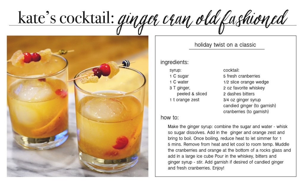 ginger cran old fashion