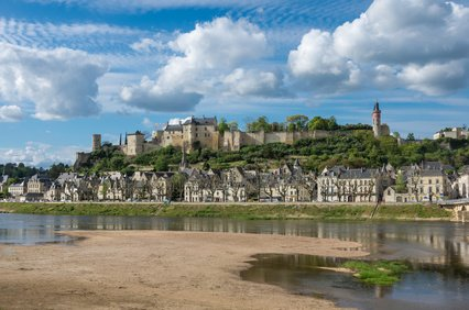 Chinon castle. Loire valley