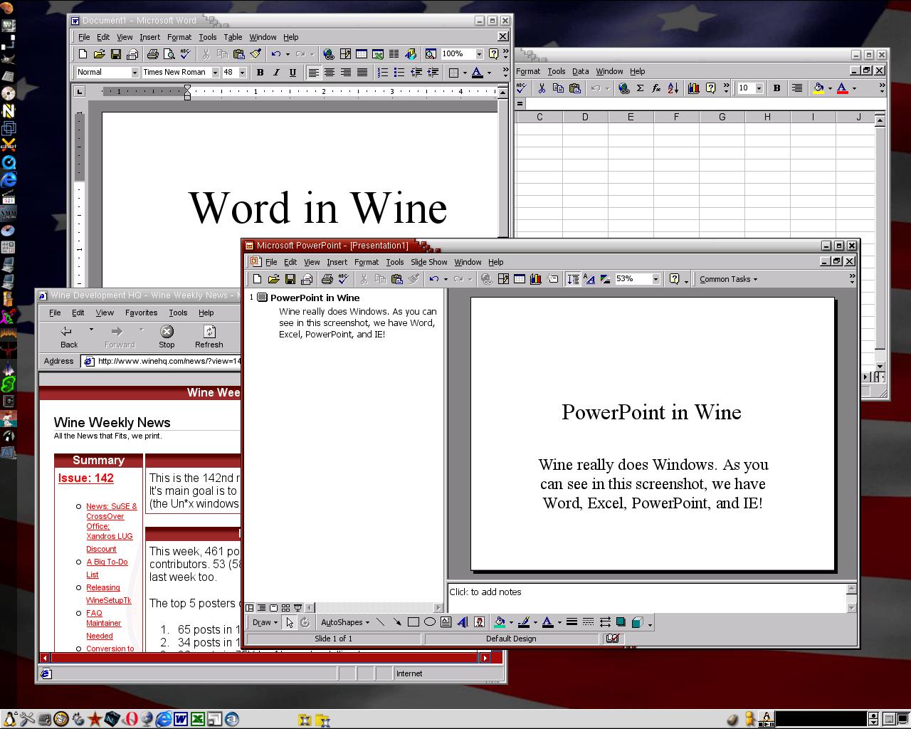 Wine's screenshot