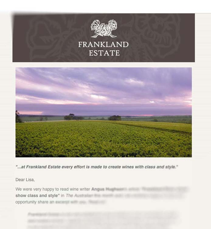 Cellar Door clubs may be as low key as receiving an email regularly from your favourite winery ...