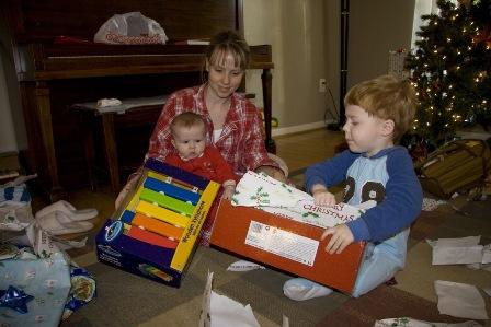 Cooper and Gavin Santa Gifts