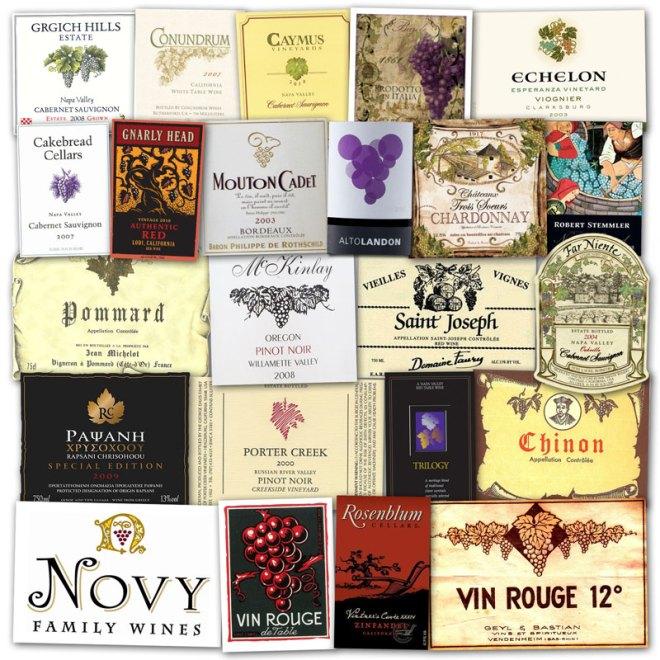 Wine Label Clichés – Grapes & Vines