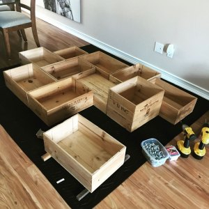 My Wine Box Shelf Project – Layout