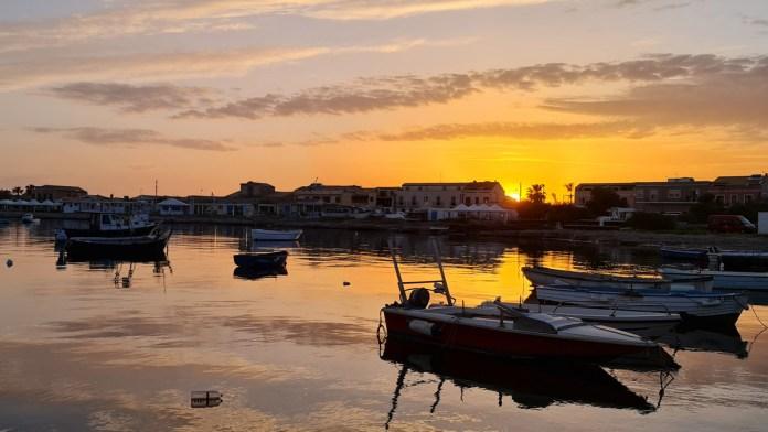 Marzamemi in Sicilia Tramonto
