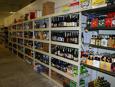 Wide Span Shelving   Wine Store Racks   Liquor Store Displays Wide Span Shelving or Pallet Racking
